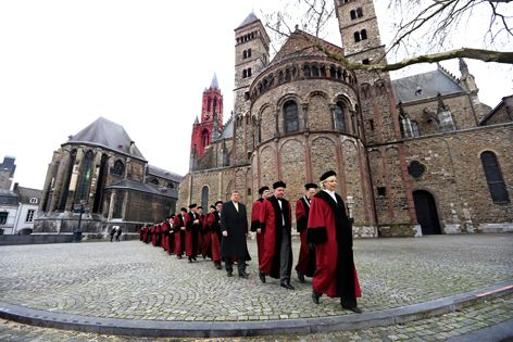 Procession of academics through Maastricht main square to open the new academic year!