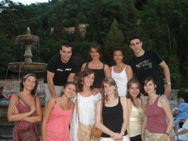 Mi primera clase de español, mis primeros estudiantes, mi primer curso de español de los negocios... A los pies de la Alhambra, en Granada