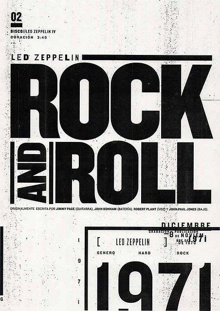 """https://flic.kr/p/7owN6P   02-rock-and-roll   """"Rock and Roll"""" es una canción de Led Zeppelin incluida en su álbum Led Zeppelin IV en 1971."""
