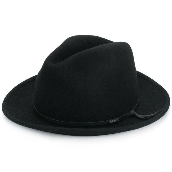 Woolrich fedora hat (425 BRL) ❤ liked on Polyvore featuring men's fashion, men's accessories, men's hats, black, mens wool fedora hats, mens wool hats and mens fedora hats
