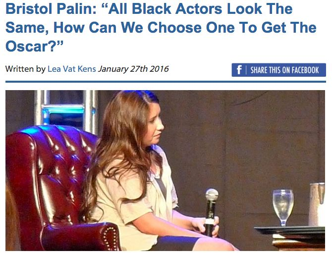 FALSE: Bristol Palin Said All Black Actors Look Alike : snopes.com