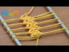 ▶ Hairpin Crochet How to Work Strip Tutorial 9 Double Crochet Stitches - YouTube