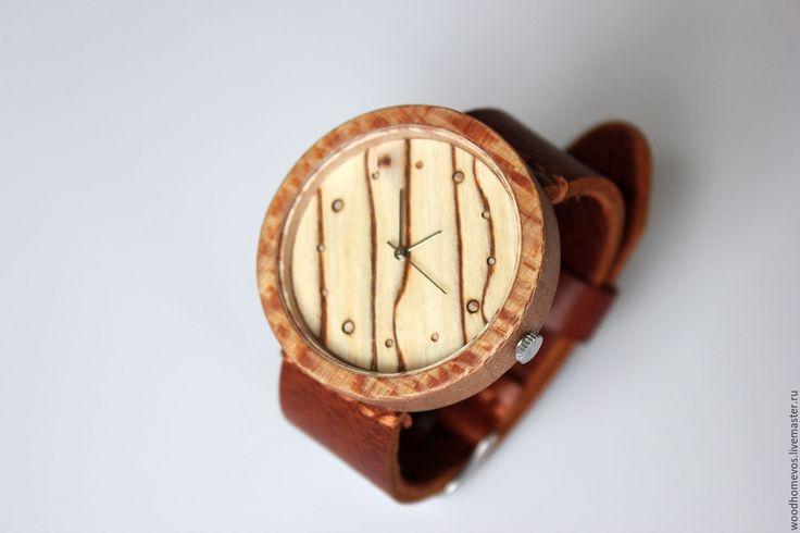 Купить Наручные часы из дерева (платан) - комбинированный, платан, часы, часы деревянные, деревянные часы