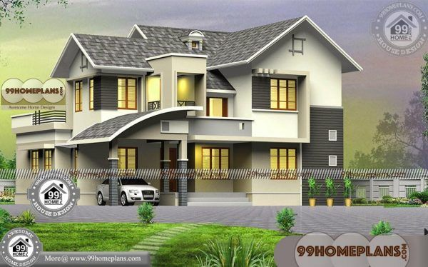 4 Bedroom Two Storey House Plans With Low Budget Modern Collections Two Storey House Modern House Plans House Plans