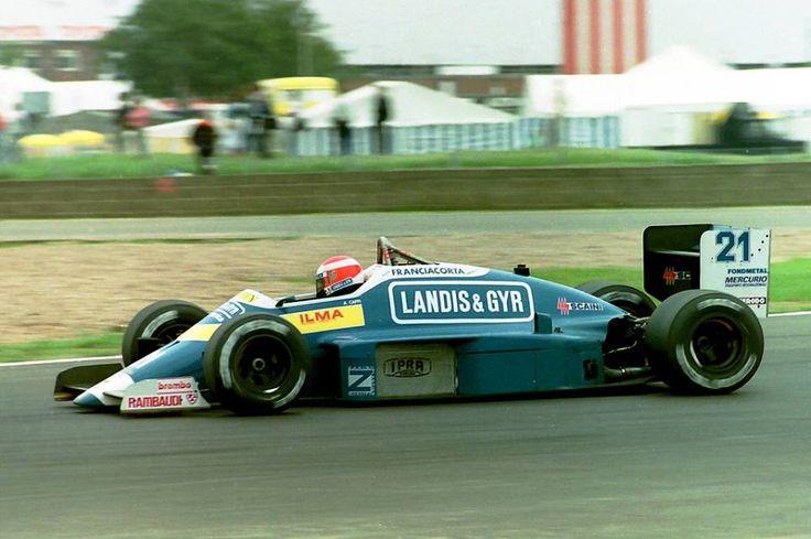Alex Caffi, Osella-Alfa Romeo V8 - Silverstone 1987