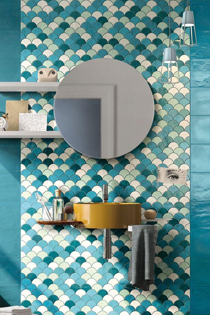 Evoke Mosaic En 2020 Salle De Bain Bleu Deco Salle De Bain Et
