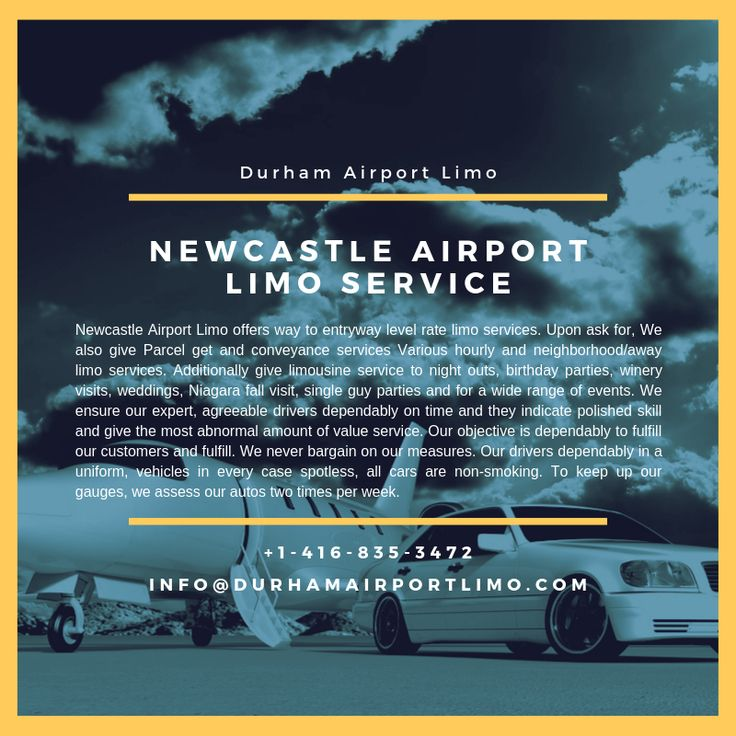 Newcastle Airport Limo Service – Durham Airport Limo – Call us now or Book Online