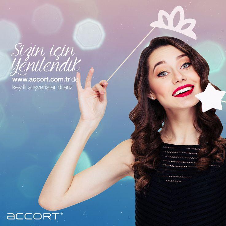 Sizin için yenilendik #accort #stil #yenilenme #moda