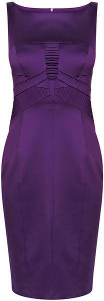 This piecing is subtle but very effective. ~ Karen Millen Sharp Satin Dress
