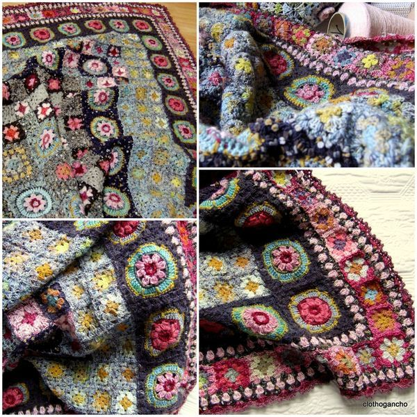 """No pattern, but I think this """"Against the Sky Afghan"""" is beautiful!"""