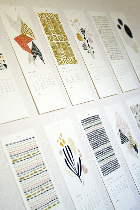 love the hand drawn elements #calendar