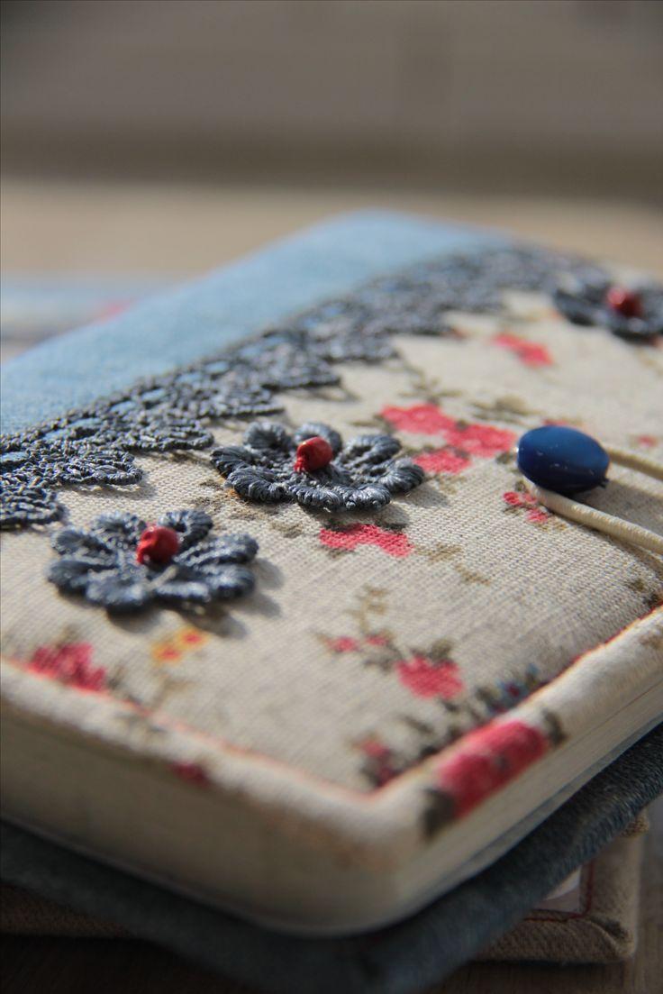 Ручная работа. блокноты в текстильной обложке!