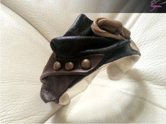leather bracelet  designer Konstantinos Gougounis