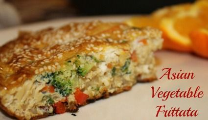 Asian Vegetable and Rice Frittata Recipe – great for any meal of the day – inclu…