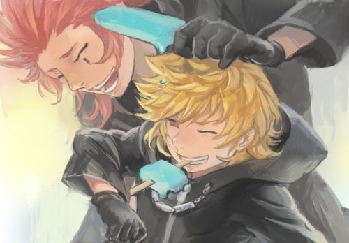 kingdom hearts roxas and axel - Google Search