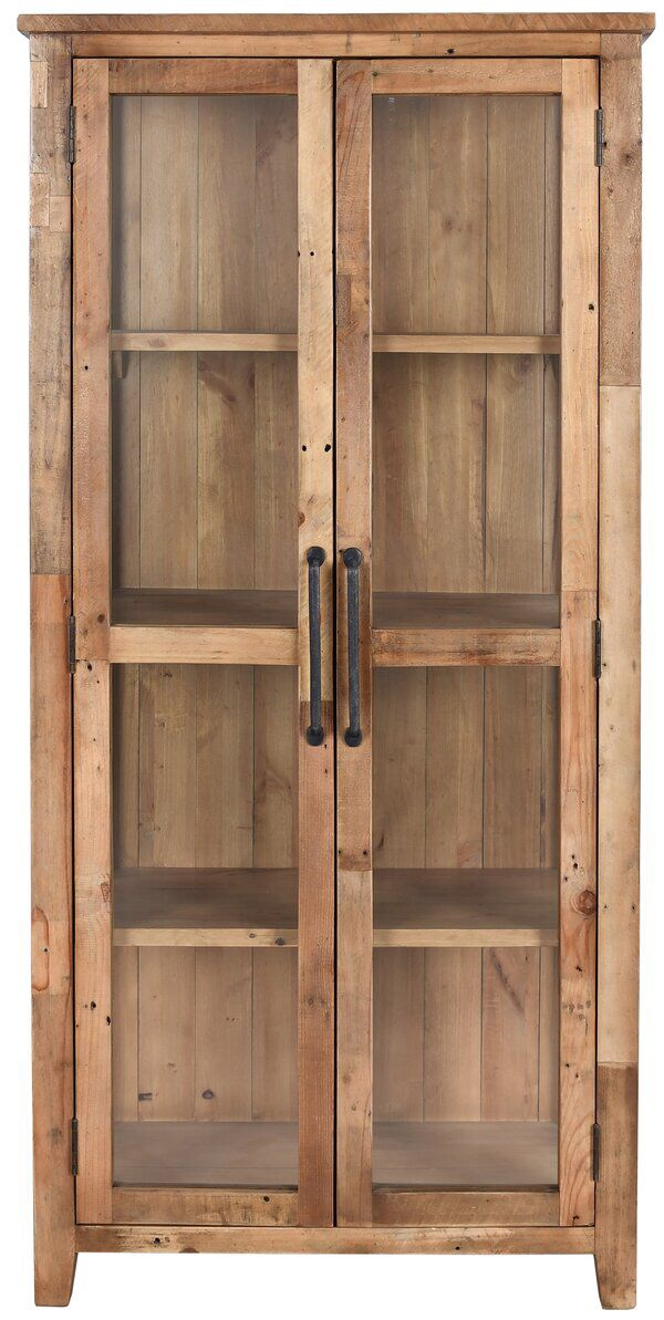 Wallsend Reclaimed Pine Display Curio Cabinet In 2020 Raw Wood Furniture Reclaimed Wood Cabinet Curio Cabinet