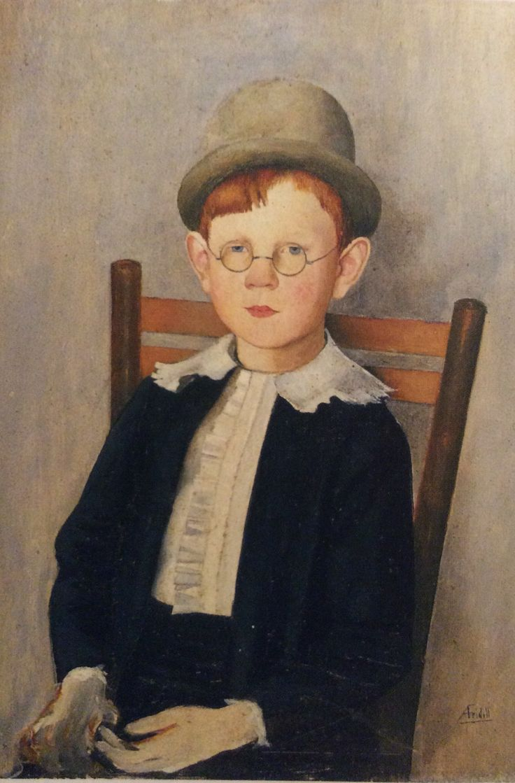 "Axel Fridell: ""Åke"" ca 1925 Oil on wood"