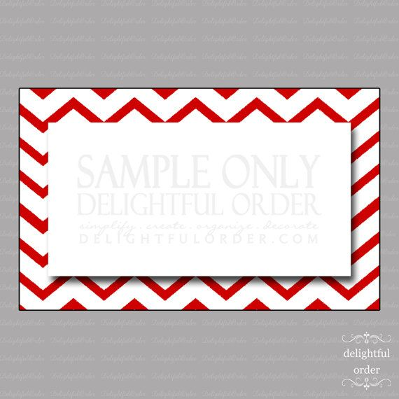 Editable Red Chevron Labels/Tags  1 PDF Files & by DelightfulOrder