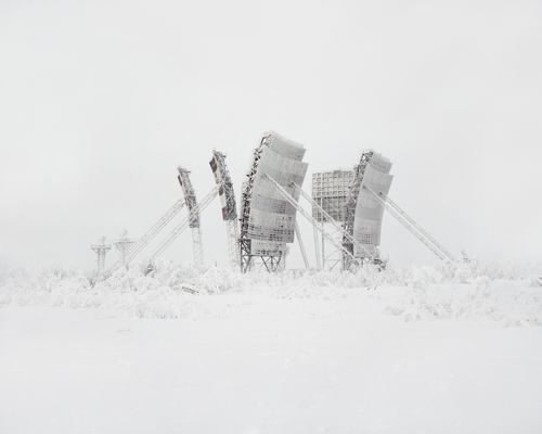3. Tropospheric antenna in the north of Russia – the type of connection which has become obsolete. There were many of them built in far North, all of them deserted at the moment. Russia, Yamalo-Nenets Autonomous Okrug, 2014