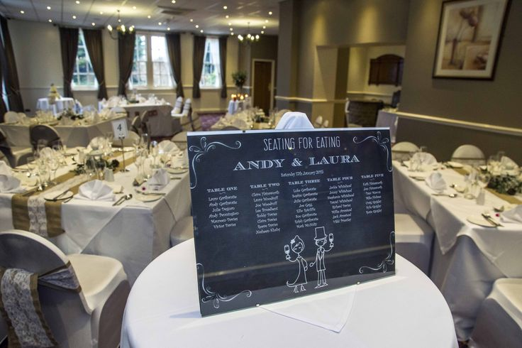 Quirky idea for a seating plan. Simple, yet very eye-catching.