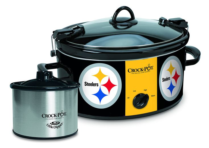 crockpot pittsburgh steelers nfl cook u0026 carry slow cooker - Pittsburgh Steelers Merchandise