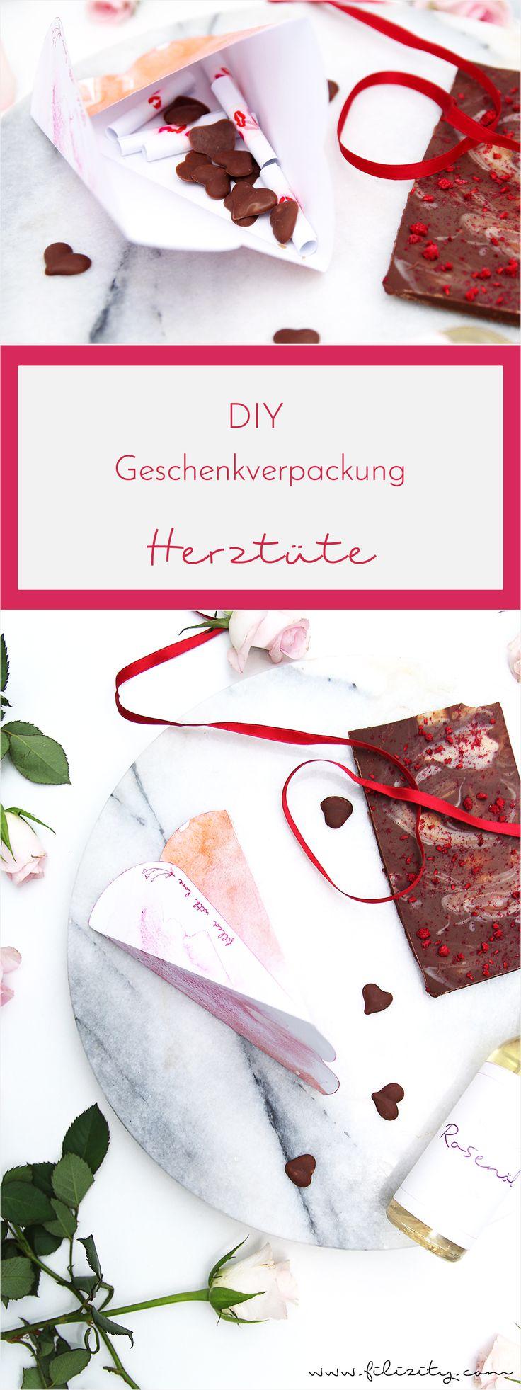 Schön Geschenke, Die Vom Herzen Kommen   Mit Dieser Verpackungsidee Für  Liebevolle Kleinigkeiten Wird Der Valentinstag