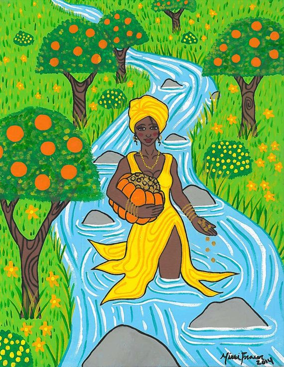 Lady Oshun prayer card.