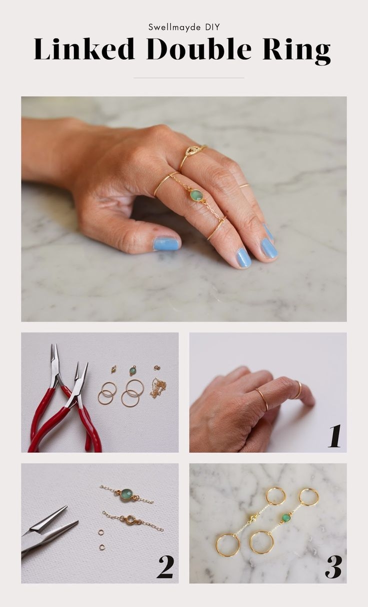 swellmayde: DIY | LINKED DOUBLE RING