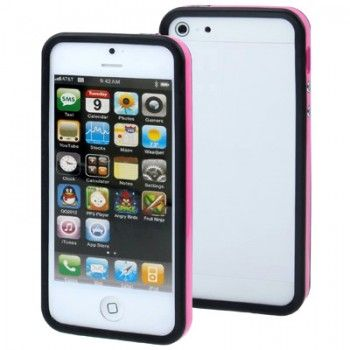 iPhone 5/5S Cases : 2-color Bumper Frame for iPhone 5 & 5s - Magenta