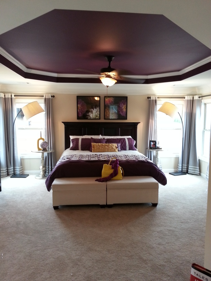 best 25 purple master bedroom ideas on pinterest purple 19552 | 8474f86055d48465f28375846f47e488 purple master bedroom master room
