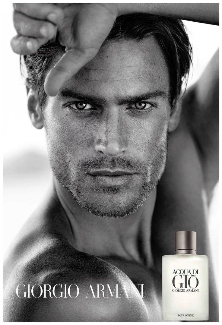 Jason Morgan Poses for Close up for Giorgio Armani Acqua Di Gio Fragrance Campaign