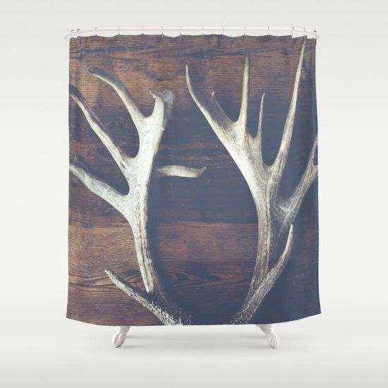 rustic bath decor rustic shower curtain rustic by DreameryPhoto