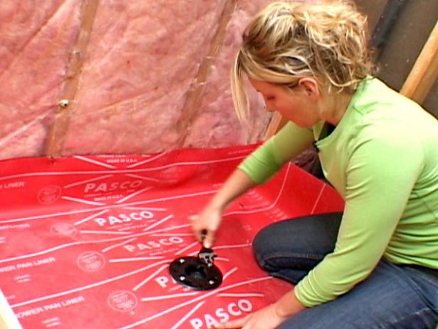 DIY Host Amy Matthews shows how to pour a concrete base for a shower on DIYNetwork.com.