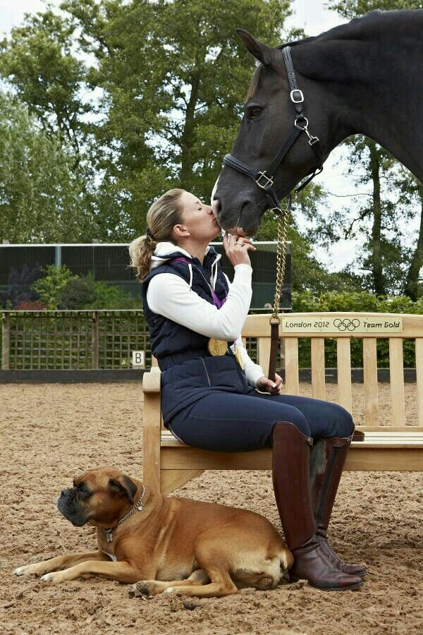 just another little girl and her horse...oh wait, that happens to be Char and Valegro!  #TheBitUK