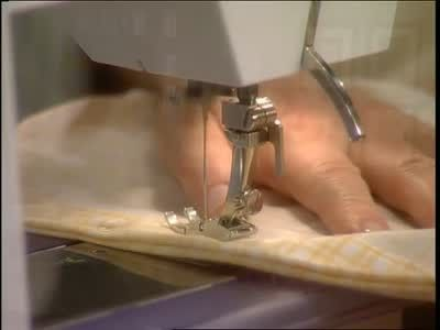 Martha Stewart sews together a duvet cover out of sheets using French seams.