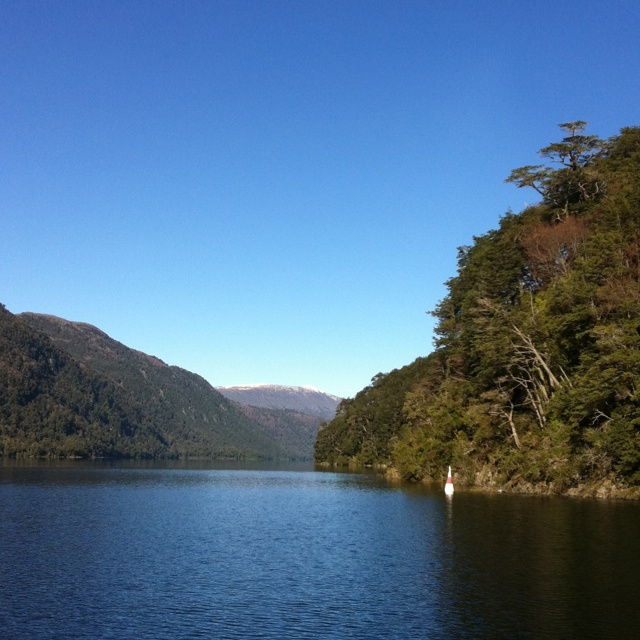 Lago Pirihueico, Panguipulli, Región de Los Ríos, Chile.