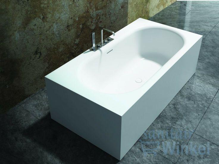 Cross Tone Solid surface vrijstaand bad L180xB93xH55cm rechthoek/ovaa ...