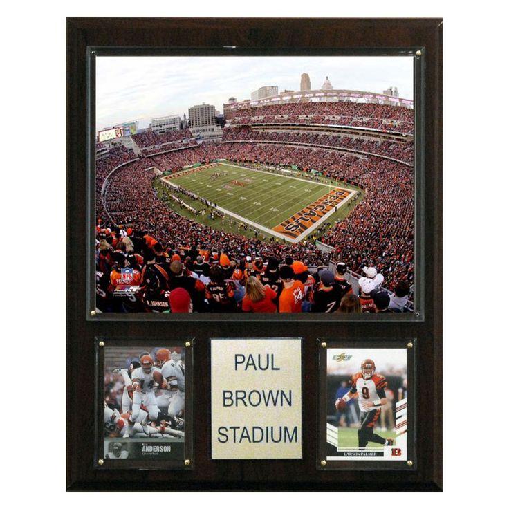 NFL 12 x 15 in. Paul Brown Stadium Stadium Plaque - 1215PBROST