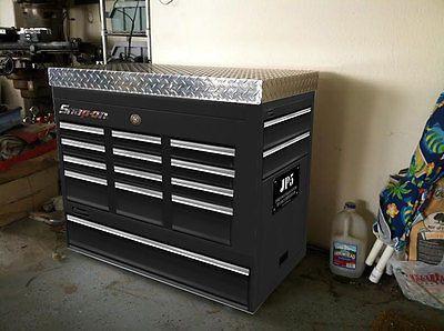 Tool box Deep Freezer wrap sticker Black, Chrome, gray, Man cave