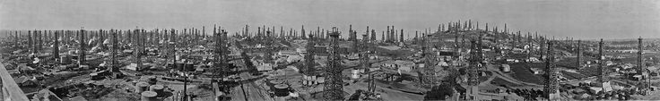 Long Beach California Panoramic Oil Fields, 1923