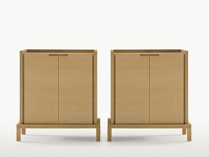 Wooden highboard with doors GEMINA Gemina Collection by Maxalto, a brand of B&B Italia Spa | design Antonio Citterio