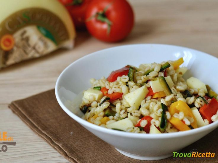 Orzo con verdure saltate e caciotta  #ricette #food #recipes