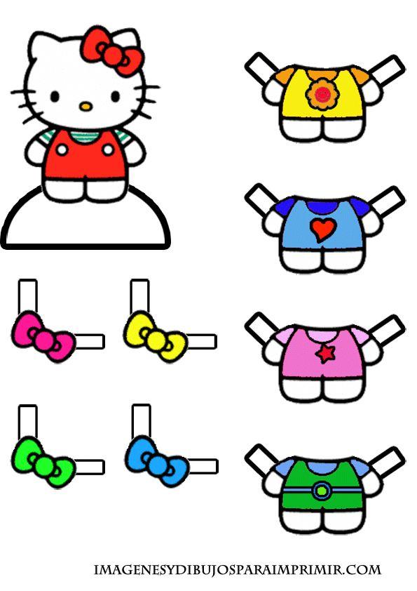 imagenes de dibujos de hello kitty para imprimir y recortar                                                                                                                                                                                 Más