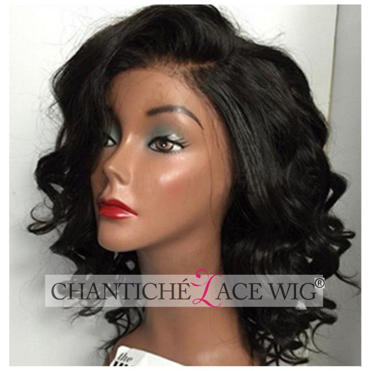 150% Short Curly Wigs Brazilian Remy Human Hair Lace Front Wig African Americans