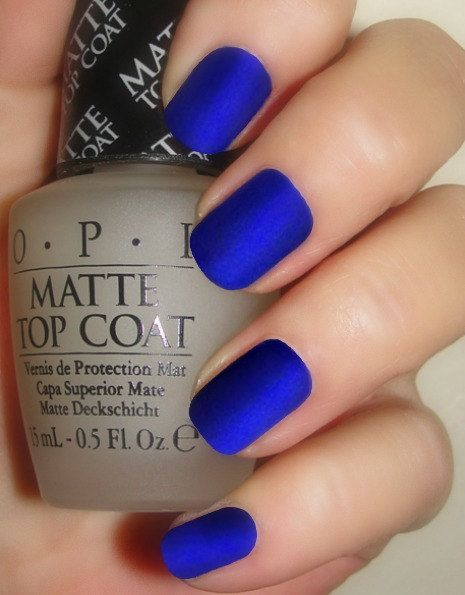 http://www.pinterest.com/myfashionintere/ OPI Manicure Lot of 2 Full Size Bottles to make a Royal Blue Matte Manicure Included in this lot: OPI Blue My Mind OPI Matte Top Coat