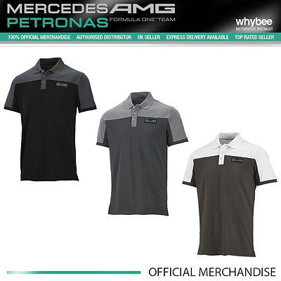 Mercedes-amg #formula one f1 team mens race polo #shirt #black/grey/white s to xx,  View more on the LINK: 	http://www.zeppy.io/product/gb/2/182014143726/