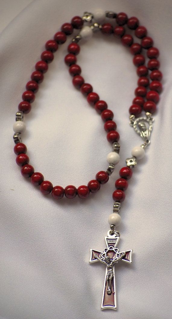 Cranberry Red Rosaries by AllToolsPrayerful on Etsy, Beads are from Denmark and they are such a beautiful rich Red. Two are available on AllToolsPrayerful