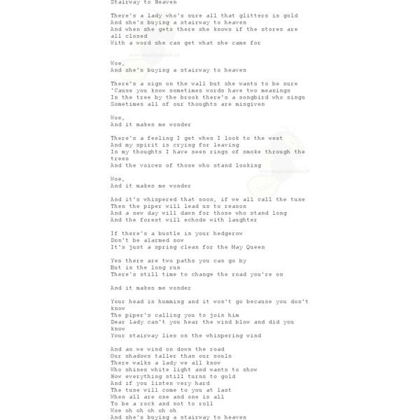 STAIRWAY TO HEAVEN de Led Zeppelin no VAGALUME (Letra e Vídeo) ❤ liked on Polyvore featuring text, words, fillers, backgrounds, quotes, magazine, effects, textures, phrases and saying