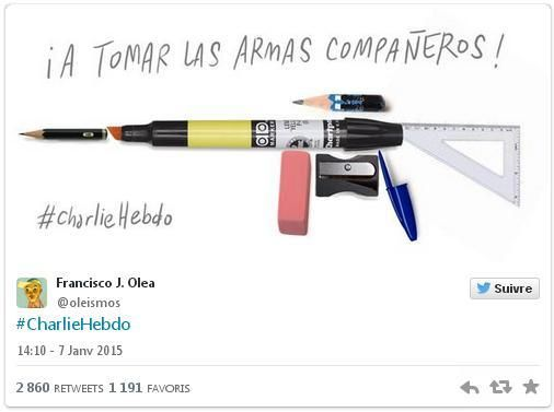 Cartoonistas de todo o mundo homenageiam vítimas do atentado ao Charlie Hebdo