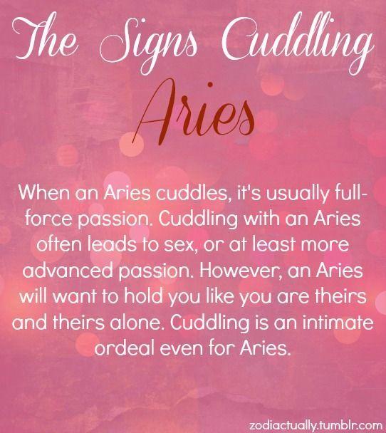 ❤ my Aries way of cuddling...